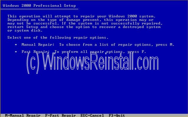 The abcs of win2k recovery and repair.